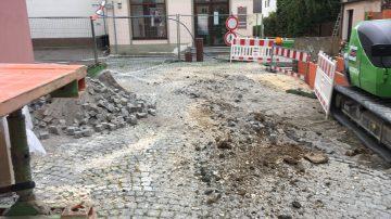Klosterstraße eine Baustelle von Ingenieurbüro Kapfer Dillingen